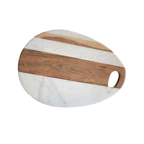 PS The Letter Exclusives   Clouleur Nature Wood and Marble Cheese Board $75.00