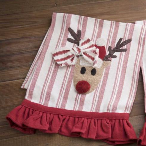 PS The Letter Exclusives   Deck the Halls, Y'all Rudolph towel $16.00