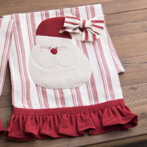 PS The Letter Exclusives   Deck the Halls, Y'all Santa towel $16.00