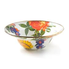 Flower Market White Breakfast Bowl