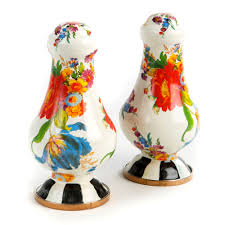 Flower Market Salt and Pepper shakers
