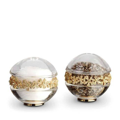 L'Objet  Salt and Pepper Shakers Garland Gold + Yellow Crystals $225.00