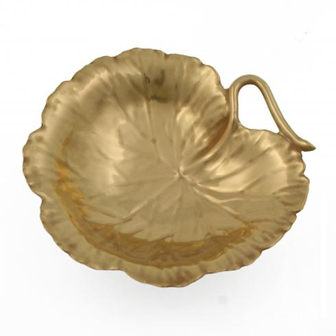 William Yeoward   Geranim Gold Leaf Dish 5.5 in $230.00