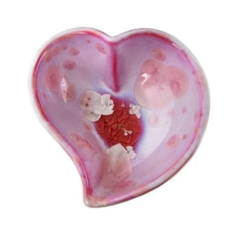 $85.00 Crystalline Heart Twist Bowl in Rose