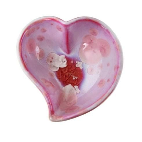 $85.00 Crystalline Heart Twist Bowl in Rose