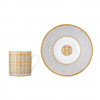 $240.00 MOSAIQUE AU 24 GOLD COFFEE CUP & SAUCER