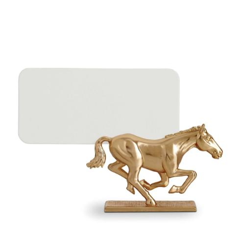 L'Objet  Place Card Holders Horse Gold Set of 6 $225.00
