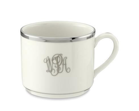 $75.00 White with Platinum Monogram Tea Cup