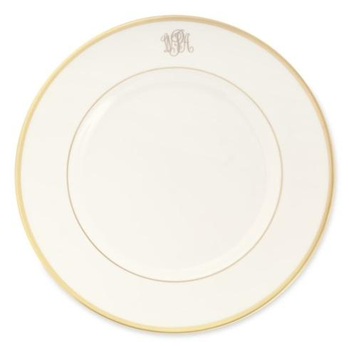Pickard Signature   Signature Collection Gold with Monogram Dinner Plate $80.00