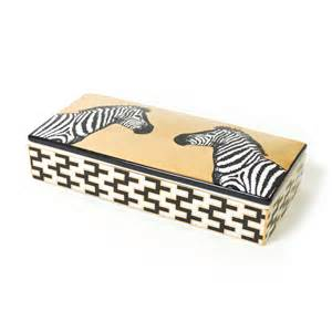 Jonathan Adler Zebra Black & Gold Box collection with 1 products