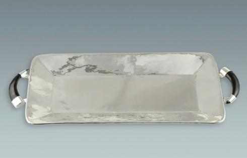 Lappas Silver Recangle Tray with Horn Handles collection with 1 products