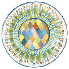 MacKenzie-Childs   Poplar Ridge Flat Rimmed Dinner Plate $88.00