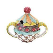 Odd Fellows Lidded Sugar Bowl