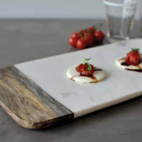 PS The Letter Exclusives   Coleur Nature Marble and Wood Cheese Board $75.00