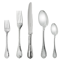 Christofle  Marly Silver Plate 5 Piece Place Setting  $611.00