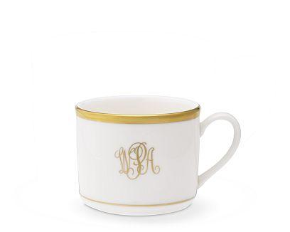 $80.00 Signature Ivory with Gold Monogrammed Cup