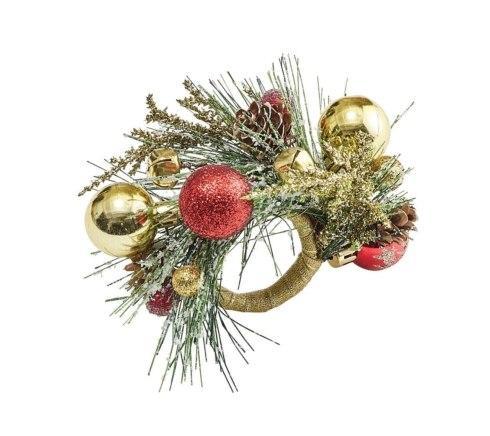 Kim Seybert Linens  Holiday Napkin Rings and Placemats Holiday Bough Napkin Ringas $14.00