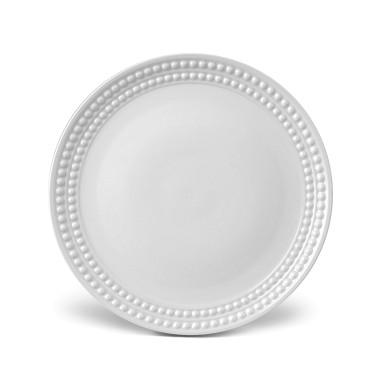 L'Objet Perlee White  Perlee White Dinner Plate $42.00