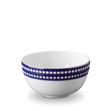 L'Objet Perlee Blue Cereal Bowl $90.00