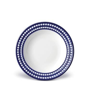 L'Objet Perlee Blue Soup Plate $72.00