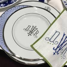 $80.00 Signature Collection Gold with Monogram Dinner Plate
