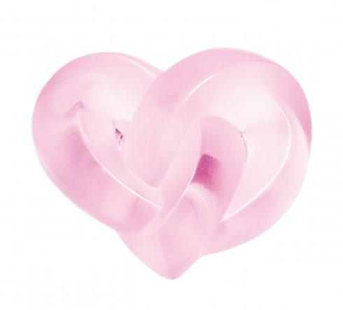 Lalique  Figurines Pink Hearts Paperweight $295.00