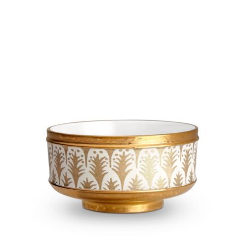 $370.00 Piumette White and Gold Cereal Bowls Set of 4