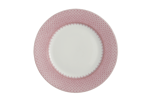 $90.00 Mottahedeh Pink Lace Dinner Plate