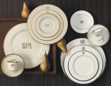 $54.00 Signature Collection Gold with Monogram Salad Plate
