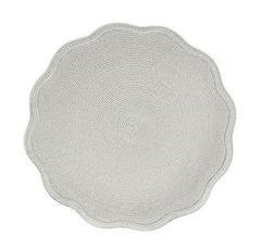 Deborah Rhodes   Silver Shimmer Scallop Placemat $55.00