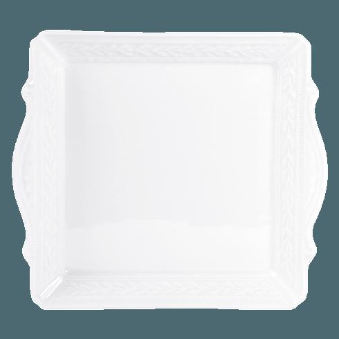 "Bernardaud  Louvre Square Handled Tray 9.5"" x 9.5"" $180.00"