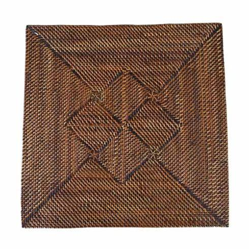 $34.00 Square Placemat with Diamond Pattern
