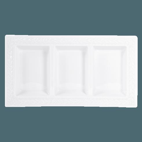"Bernardaud  Louvre Three Compartment Tray 7""x 13"" $113.00"