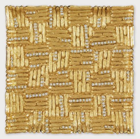 Tizo Designs   Gold Square Coaster $42.00