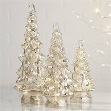 PS The Letter Exclusives   Two's Company Mercury Silver Christmas Tree small $30.00