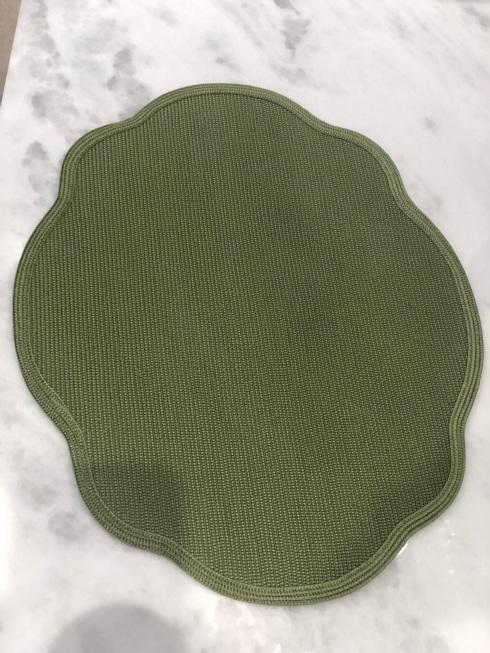 $55.00 Green Scalloped Placemat