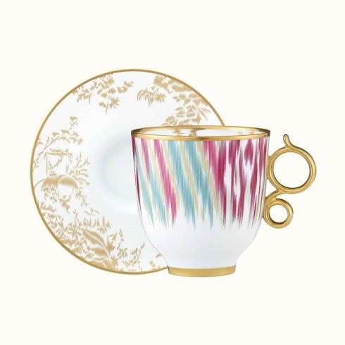 $460.00 Voyage en Ikat tall cup and saucer