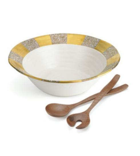 Michael Wainwright   Tempio Luca Gold Salad Bowl With Server $225.00
