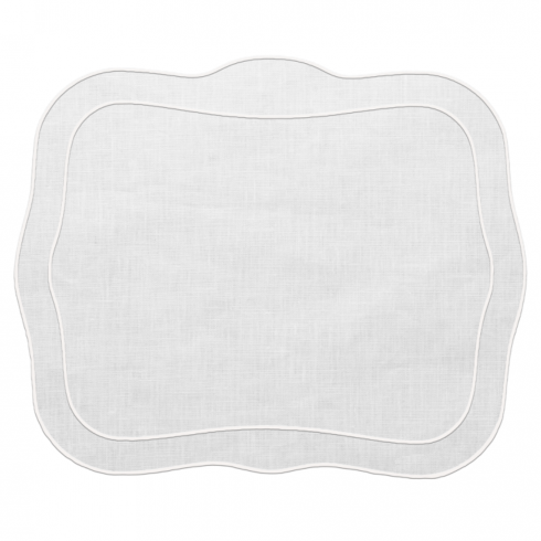 PS The Letter Exclusives   Skyros Patrician Set of 4 White Placemats  $100.00