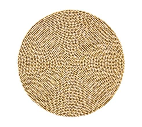 $79.00 Wood Round Placemat