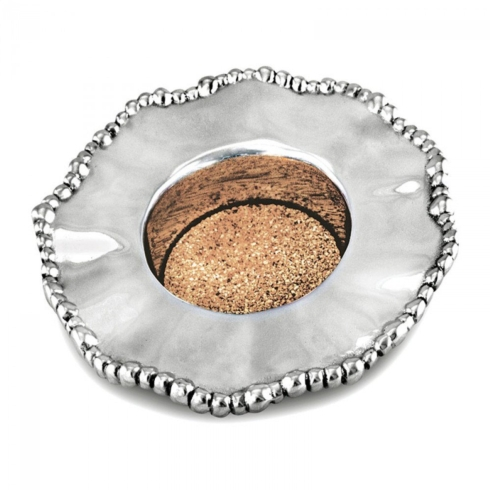 Plum Southern Exclusives   Wine Coaster Organic Pearl $48.00