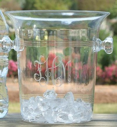 Tiger Lily   ice bucket engraved $46.00