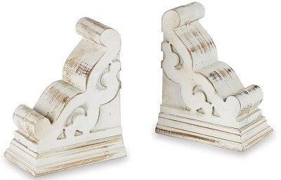 Plum Southern Exclusives   Whitewashed Bookends $42.00
