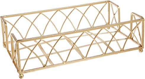 $18.00 Guest Towel Caddy- Gold