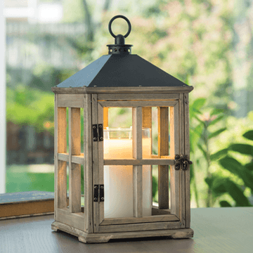 Plum Southern Exclusives   Candle Warmer Wood Lantern $52.00
