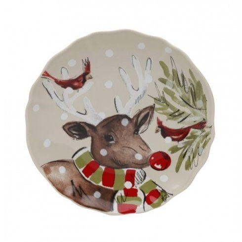 Plum Southern Exclusives   Canape Plate - Deer Friends $20.50