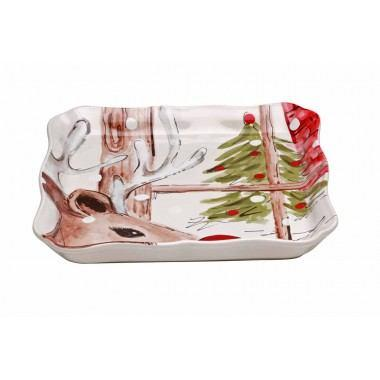 Plum Southern Exclusives   Square Tray - Casafina Deer Friends - White $28.50