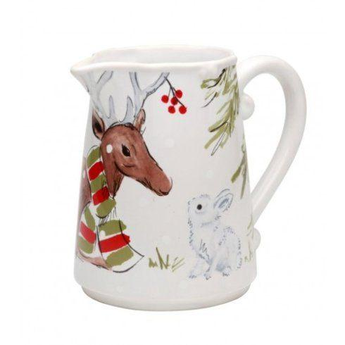 Plum Southern Exclusives   Pitcher - Casafina Deer Friends Pitcher (White) $62.00