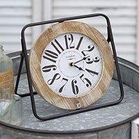 $42.00 Brown Easel Clock