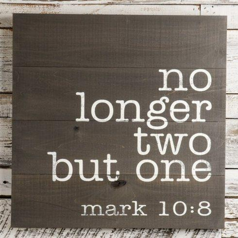 Plum Southern Exclusives   Wood Sign - (No Longer Two But One) $75.00
